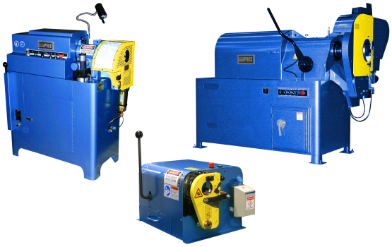 PHI Tube and Pipe End Finishing Machines Models 2C, 2CP, 2CPV, 3CPV, 8CPV