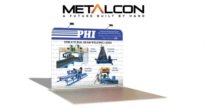 PHI tradeshow display at Metalcon