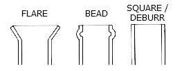 Tube and pipe end finishing: Flare, Bead, Square and Deburr