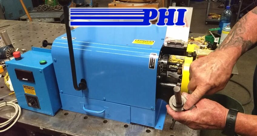 PHI 2CPV End Finishing Machine Square and Deburr Demo Video