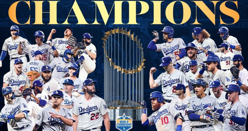 Go Blue! Los Angeles Dodgers are World Champions
